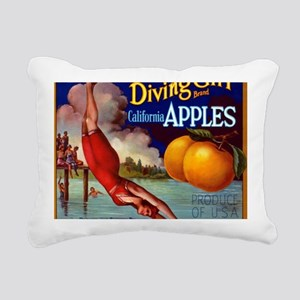 Diving Girl California A Rectangular Canvas Pillow